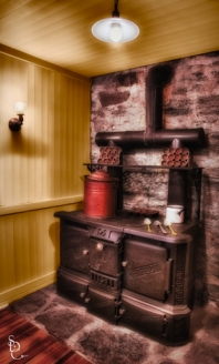 HDR image of the Stove at Gillette Castle Kitchen