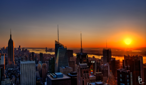 New York City Skyline at Sunset from Top of the Rock