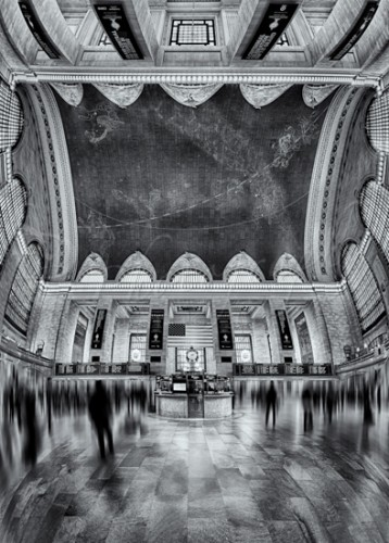 A Central View BW - Grand Central Terminal Station