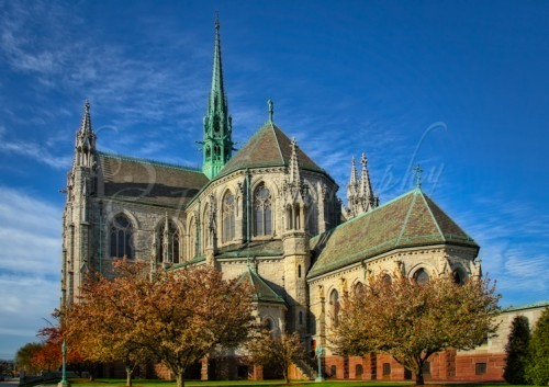 Cathedral Basilica of the Sacred Heart exterior photography