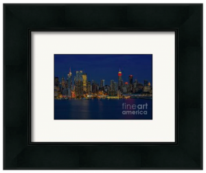 Framed and matted NYC Skyline print