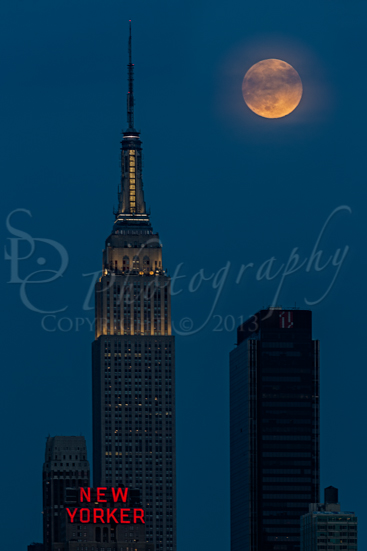 Super Moon By The Empire State Building NYC