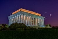 Lincoln Memorial Under The Stars