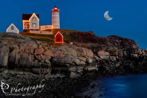 Nubble Lighthouse Christmas Lights