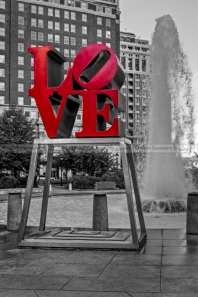 JFK Plaza Love Park BW I