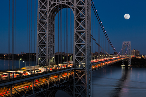 George Washington Bridge Moon Rise