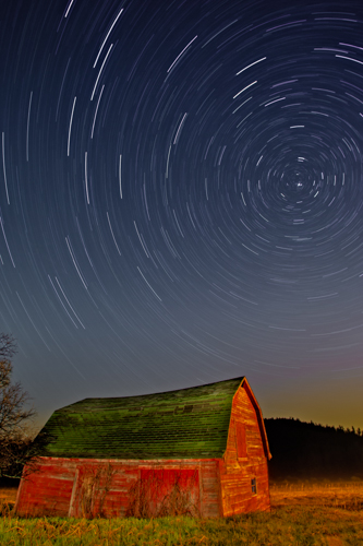 Starry Night Star Trails