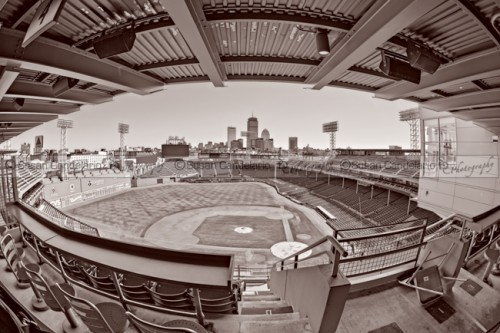 Fenway Park and Boston Skyline