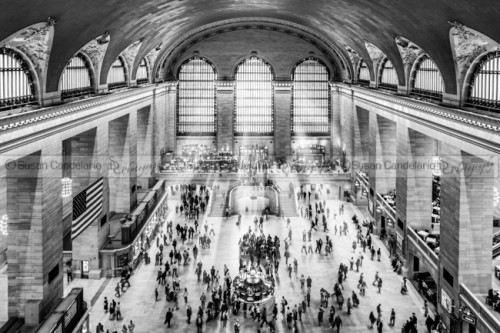 Grand Central Terminal Birds Eye View II BW