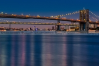 Brooklyn Manhattan and Williamsburg Bridges NYC