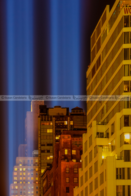Tribute In Lights 911 WTC NYC
