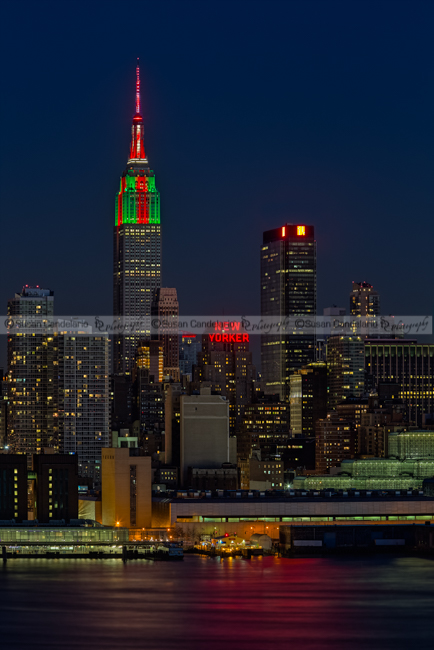 Empire State Building In Christmas Lights