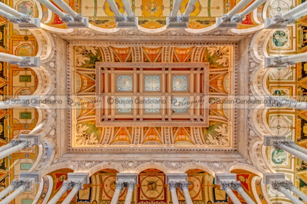 Library Of Congress Main Hall Ceiling