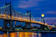 Queensboro Ed Koch Bridge Full Moon
