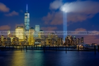 WTC Tribute In Lights NYC 1